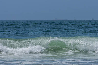 Photograph - Wave At Seal Beach by Ernie Echols