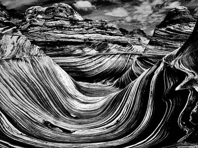 Photograph - Wave Black In White  by Sarah Pemberton