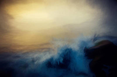 Wave Break Art Print by John K Woodruff