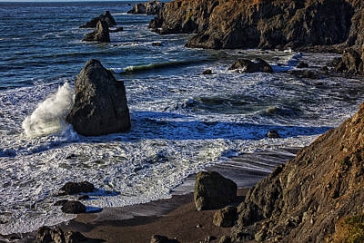 Sonoma Coast Photograph - Wave Breaking On Rock by Garry Gay