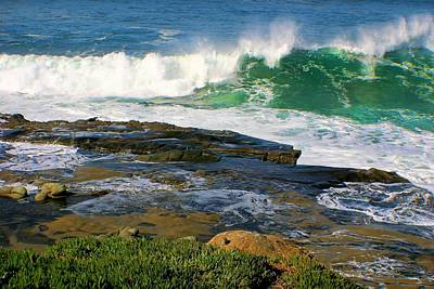 Photograph - Wave Crashing La Jolla by Jane Girardot