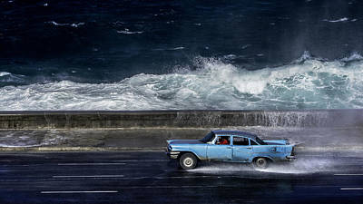 Cuba Photograph - Wave  Driver by Alper