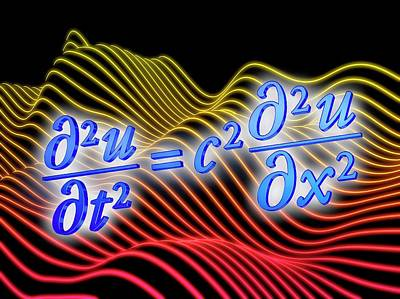 Wave Equation Art Print by Alfred Pasieka