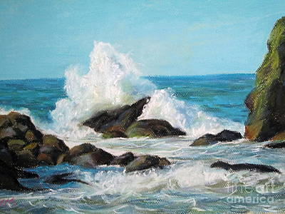 Art Print featuring the painting Wave by Jieming Wang