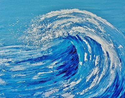 Art Print featuring the painting Wave by Katherine Young-Beck