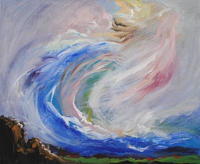 Prophetic Art Wall Art - Painting - Wave Of Healing by Patricia Kimsey Bollinger