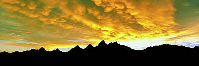Mammatus Photograph - Wave Of Mammatus Clouds At Sunset by Panoramic Images