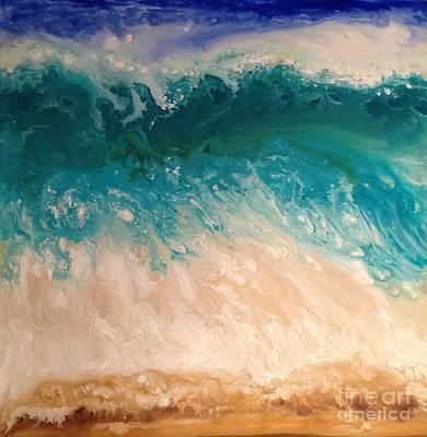 Wave Art Print by Patty Vicknair