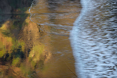 Art In Motion Photograph - Wave Reflections 2 by Leland D Howard