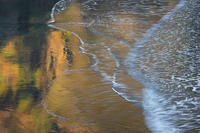 Art In Motion Photograph - Wave Reflections 4 by Leland D Howard