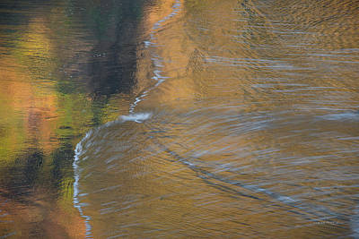 Art In Motion Photograph - Wave Reflections 5 by Leland D Howard