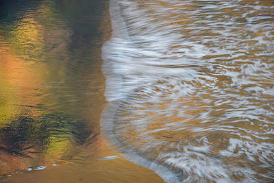 Art In Motion Photograph - Wave Reflections 6 by Leland D Howard