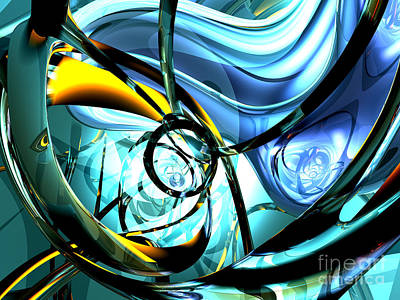 Vivid Digital Art - Wave Roll Abstract by Alexander Butler