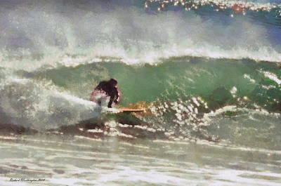 Hamptons Mixed Media - Wave Runner  by Richard Worthington