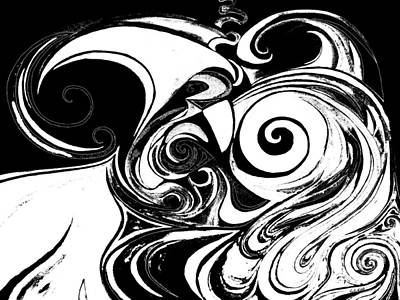Painting - Wave Set Black And White by Expressionistart studio Priscilla Batzell