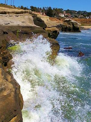 Photograph - Wave Splash by Jane Girardot