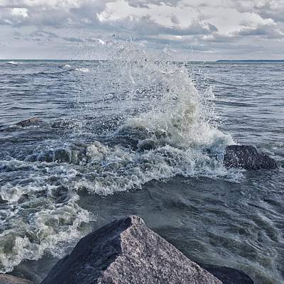 Art Print featuring the photograph Wave Splash by Nikki McInnes