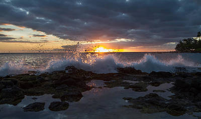 Photograph - Wave Splash by Roger Mullenhour