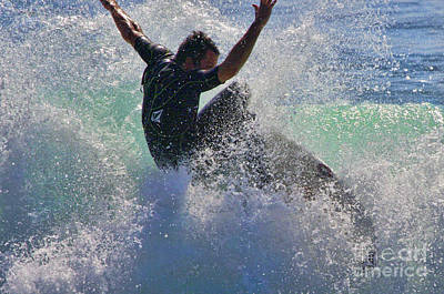 Catch A Wave Photograph - Wave Surfer By Diana Sainz by Diana Sainz