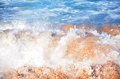 Photograph - Wave Up Close by Kaye Menner