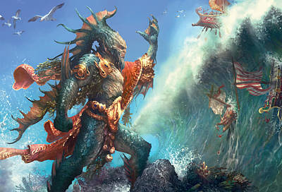 Wall Art - Digital Art - Wavecrash Triton by Ryan Barger