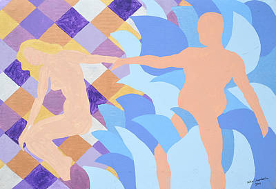 Art Print featuring the painting Waved by Erika Chamberlin
