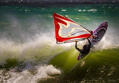 Photograph - Waverider....  San Simeon by Tim Bryan