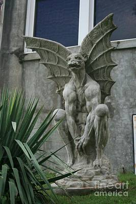 Photograph - Waverly Gargoyle by Tony Baca