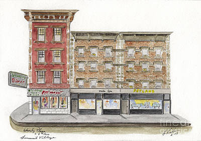 Painting - Waverly Diner In Greenwich Village by AFineLyne