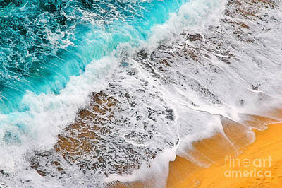 Colorful Photograph - Waves Abstract by Silvia Ganora