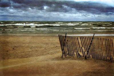 Michigan Photograph - Waves And Clouds  by Michelle Calkins