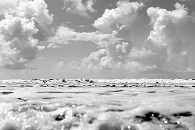 Photograph - Waves And Clouds by Steven Llorca