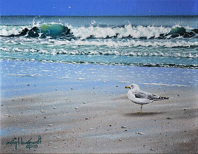 Painting - Waves And Rays by Craig T Burgwardt