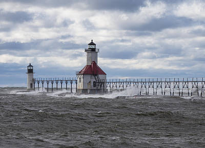 Canon 6d Photograph - Waves At St Joseph Lighthouse  by John McGraw
