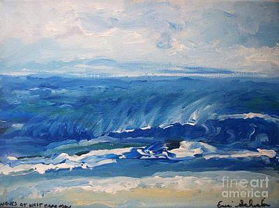 Drawing - Waves At West Cape May Nj by Eric  Schiabor