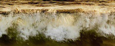 Photograph - Waves Breaking At The Shore Reflecting by Thomas Kline