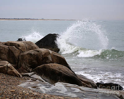 Photograph - Waves Breaking by Deborah Smith