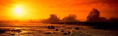 Waves Breaking On Rocks In The Ocean Art Print by Panoramic Images