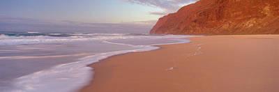 Waves Breaking On Sandy Barking Sands Art Print