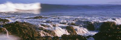 Waves Breaking On The Beach, Playa Los Art Print