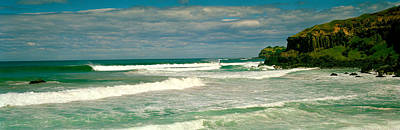 Lennox Photograph - Waves Breaking On The Shore, Backside by Panoramic Images