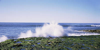 Natural Bridges State Beach Photograph - Waves Breaking The Coast, Natural by Panoramic Images
