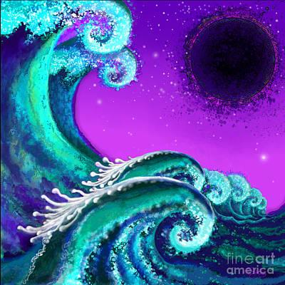 Digital Art - Waves by Carol Jacobs