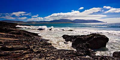 Ireland Photograph - Waves Crashing Into The Donegal Coast - Ireland by Barry O Carroll