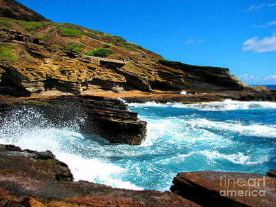 Art Print featuring the photograph Waves Crashing by Kristine Merc