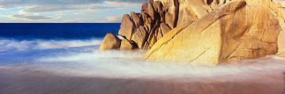 Waves Crashing On Boulders, Lands End Art Print