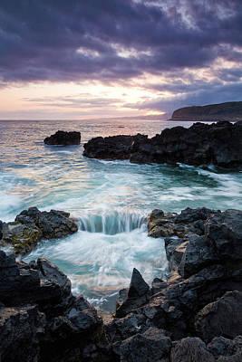 Sao Miguel Island Photograph - Waves From The Atlantic Ocean Crash by Joel Santos
