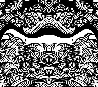 Marker Wall Art - Digital Art - Waves by HD Connelly