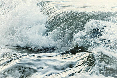 Seascape. Wave Photograph - Waves In Stormy Ocean by Elena Elisseeva