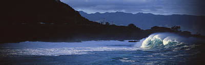 Waves In The Pacific Ocean, Waimea Art Print by Panoramic Images